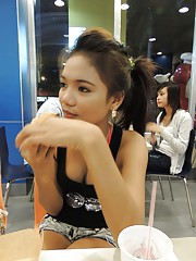 Petite Filipina babe takes foreign cock and cream after meal