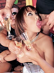 Katsunis Birthday Party is an Orgy with DP and a Facial
