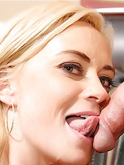 Sexy Camryn Cross fucks a guy while her cuckolded husband meekly watches