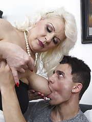 Two housewives doing two younger guys