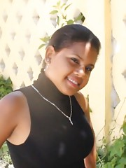 Cute Dominican girl Jennifer works out a load from black cock
