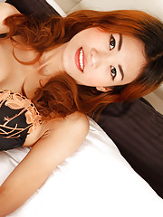 Skinny 19yo Thai babe poses playfully and strips down to her bare delicious body