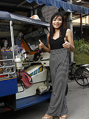Stunning Thai babe strips off to reveal beautiful little ass and tight pussy