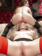 Beautiful young slave sluts ruthlessly fucked in the ass and ravaged at an exclusive