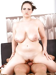 Busty mature babe Olarita gets her twat pounded by cock.