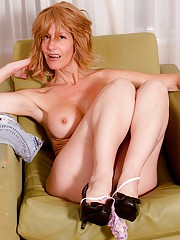 Firm breasted older babe Lana Wilder toying pussy.