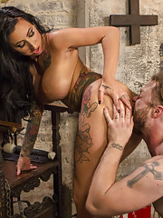 Mike Panic is locked in Lily Lanes divine dungeon after taunting her on the street.