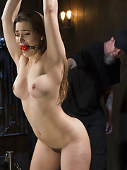 Mega babe Dani Daniels is back and hotter than ever suffering until tears roll down