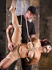 Mia suffers in Extreme bondage and suffers for every orgasm she receives.