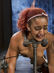 Ingrid and Daisy are restrained in metal bondage tormented and made to have squirting