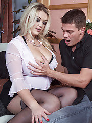 Busty Blonde Likes To Be Watched