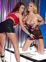 Porn slut Jessica Jaymes decided to go at the stripclub with her husband. After getting