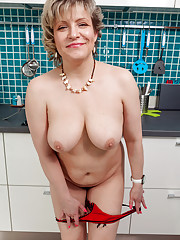 Horny housewife Marianna shows off her big breasts