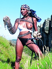 Pirate Presents Gorgeous Ebony Queen Bettina Wild and DPd
