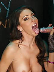 Were in the nasty dirty filthy glory hole today with our girl Jessica Jaymes this