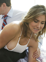 Naughty schoolgirl Bea Wolf takes her punishment for skipping class by getting spanked