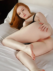 Kloe Kane shows off her natural red hair Czech Republic