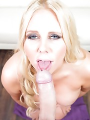Today we have the super sexy Karen Fisher. She said she loves to give blowjobs and