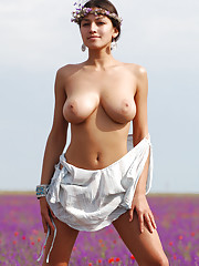 Sofi A showcases her large supple breasts and lovely slit Ukraine