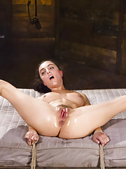 Roxanne is a pain slut masquerading as a brat to get tied up and tormented.
