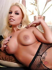 Britneys Crotchless Fishnet Solo