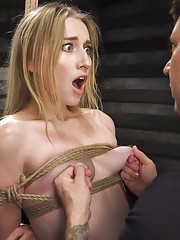 Slave trainee Riley Reyes endures hard anal submission bondage and discipline at