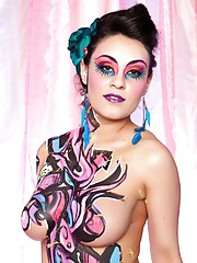 Sexy Pink Body Paint