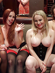 This outrageous conclusion sees all four slaves consumed by an orgy of epic proportions