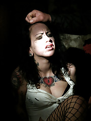 Blindfolded with a sack over her head Lise wakes and quickly realizes her imprisonment