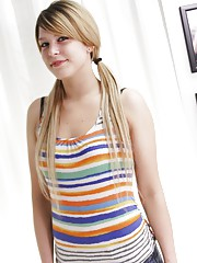 Abby Paradise a bubbly cute blonde next door doesnt have any experience but wants