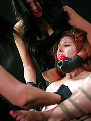 Lesbian domination threesome Rose Red Lexy Villa and Brooklyn Daniels. This time