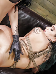 Alby Rydes is back for more lesbian domination with Mistress Esmi Lee! She cant get