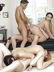 Brianna Bounce Stars in Orgy With Penelope Cum  Anny Aurora