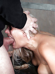Angel Allwood is fucked from both ends by Matt and Sergeant Miles. Rough sex and