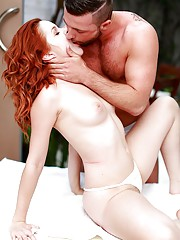Spanish Red Headed Amarna Miller is Fucked After Hot Massage