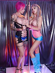 I went to the Stripper Experience club the other day and AnnaBell Peaks and Alix