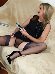When there is nothing to watch on TV why not come and watch Jayde in sheer nylon