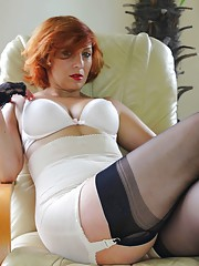 Posing in girdle and ff nylons