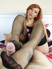 Many of her fans love to see Vixen giving a footjob especially when her feet are