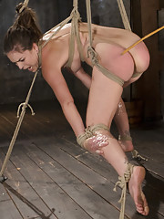 Crotch ropes breath control choking caning flogging pussy fucking throat fucking