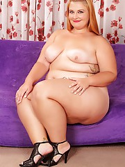 Chubby blond cutie Tiffany Star submits her round charms for your inspection