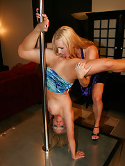 Sammy ties to teach NaughtyAllie some pole tricks