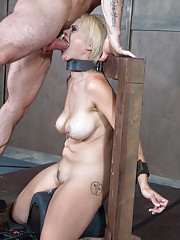 We have Nadia White bound and completely helpless while in a custom metal device