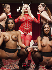 Hot anal newbie slaves turned out for a crowd of kinky bdsm swingers. Rough anal