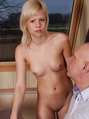 He is 64- shes only 19! This is a hell of a fuck story. She just want to fuck around.