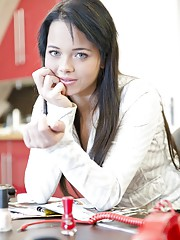 A sexy 18 year old girl is Oldje secretary in a very busy day at the office. The