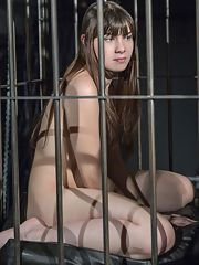 Latest Subspaceland BDSM sex game presents a caged young beauty subjected to the