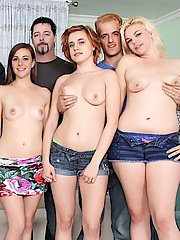 Many girls fucking in a orgy