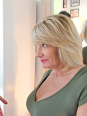 Naughty British mature Amy loves to fool around with a hot younger babe