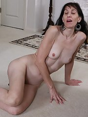Horny American mature lady playing alone